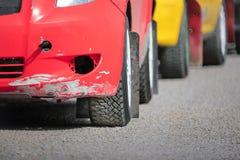 在起动线的集会赛车 免版税图库摄影