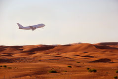 在起飞的沙漠 图库摄影