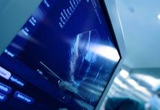 在超声波机器屏幕上的心脏  免版税图库摄影