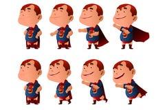 在超级英雄服装穿戴的孩子 免版税库存照片
