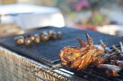 在越南样式的烤鸡 免版税库存照片