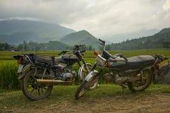 在越南的北部的Motobike 免版税库存图片