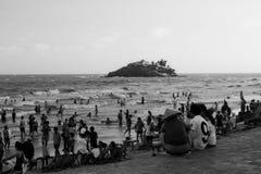 在越南的南部的头顿海滩 免版税库存照片