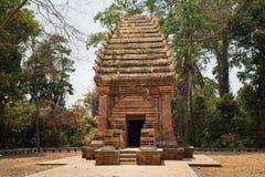 在越南的高原中心的唯一的可汗塔,杨橛塔在Ea一口区, 100km位于远离Buon Ma Thuo 免版税库存照片