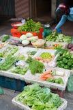 在越南街道的菜购物 免版税图库摄影