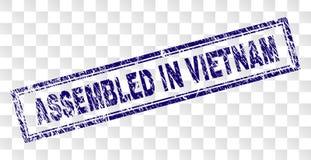 在越南长方形邮票装配的难看的东西 库存例证