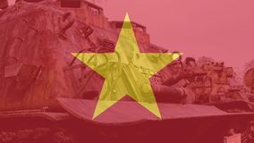 在越战以后的NTrophy美国人被毁坏的技术 越南战争全国军事博物馆  免版税库存照片
