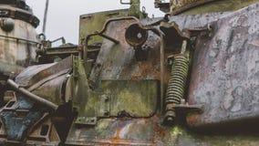 在越战以后的NTrophy美国人被毁坏的技术 越南战争全国军事博物馆  免版税库存图片