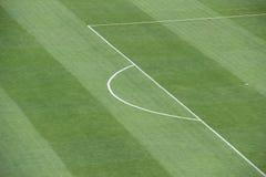 在足球场的罚球区 图库摄影