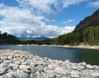 在足迹不列颠哥伦比亚省的岩石电罗经海滩 免版税库存图片