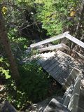 在足迹的台阶 库存图片