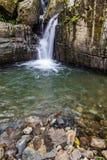 在足迹的水对胡安地亚哥秋天 免版税库存图片