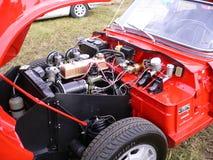 在跑车的引擎 免版税库存照片
