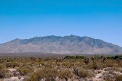 在距离的山脉在莫哈韦沙漠 图库摄影