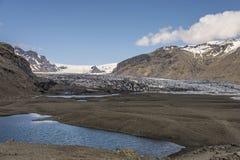在距离的Skaftafellsjökull 免版税库存照片
