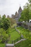 在距离的拉珀斯维尔城堡 库存图片