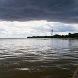 在距离的Watertower 免版税库存照片