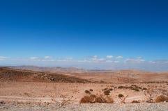 在路上向瓦地伦,约旦,中东 免版税库存图片