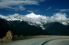 在路上向香格里拉,中国 免版税图库摄影