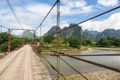 在路上在老挝 免版税库存图片