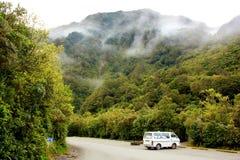 在路的冒险,新西兰 库存照片