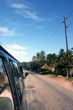在路的出租汽车在非洲 免版税库存照片