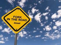 在路的叉子 图库摄影