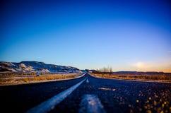 在路的孑然 图库摄影