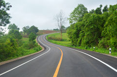 在路的曲线 免版税库存图片