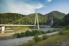 在路的桥梁从Krasnaya的Polyana索契对奥林匹克ven 免版税库存照片