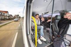在路的残疾出租汽车 免版税图库摄影