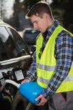 在路的燃料服务 免版税库存照片