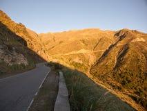 在路的看法从'El的Filo'梅洛 免版税库存照片
