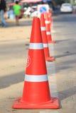 在路的锥体交通 免版税库存图片