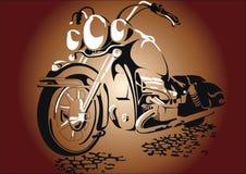 在路的Motorcycl 库存照片