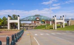 在路线66的著名桥梁在土尔沙-土尔沙-俄克拉何马- 2017年10月17日 免版税库存照片