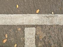 在路路面的空白线路 库存照片