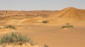 在路附近来沙漠迪拜hatta 免版税库存照片