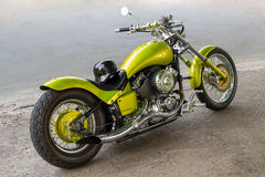 在路面的摩托车 库存图片