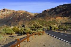 在路teide火山附近 图库摄影