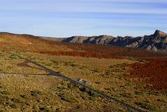 在路teide火山附近 免版税库存照片