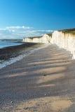 在踩着旋转的空白的峭壁,英国 免版税库存照片