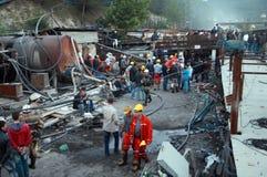 在身体,马尼萨的煤矿爆炸 免版税库存照片