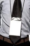 在躯干的空白徽章 库存照片