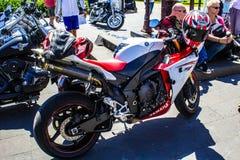 在车展的摩托车 免版税库存照片