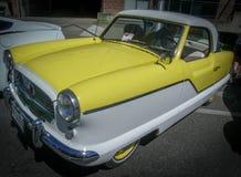 在车展的精密老汽车 免版税库存照片