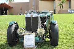 在车展的老MG汽车 免版税库存图片