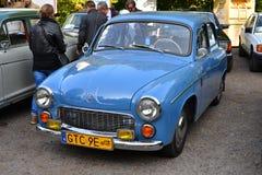 在车展的经典之作波兰汽车 免版税图库摄影
