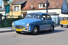 在车展的经典之作波兰汽车 免版税库存照片