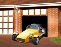 在车库的成套工具汽车 免版税库存图片